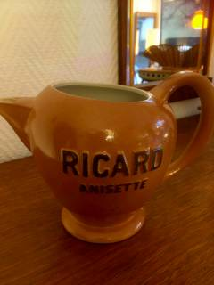 Pichet publicitaire Ricard Anisette, made in France, Atelier Céramique Ricard 830, H 15.